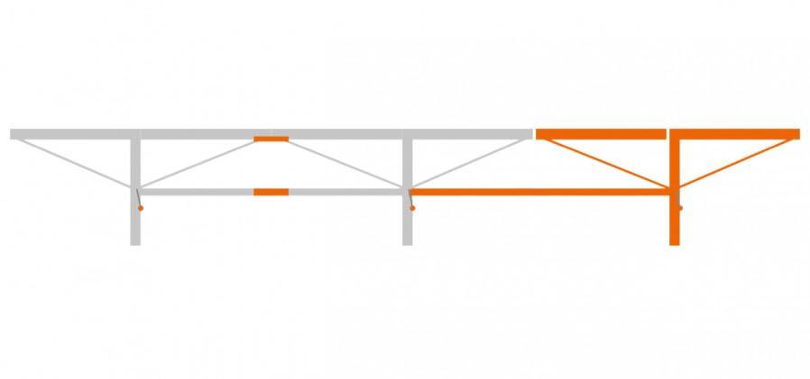 Удлинение 2 м для пилорамы F2 4 м