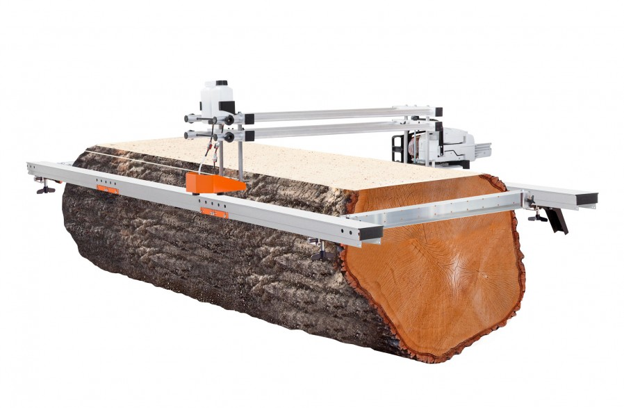 Big Mill с ведущими балками из алюминия. Набор 66 инчей (167 см) пильная шина (цепь и шина включены)