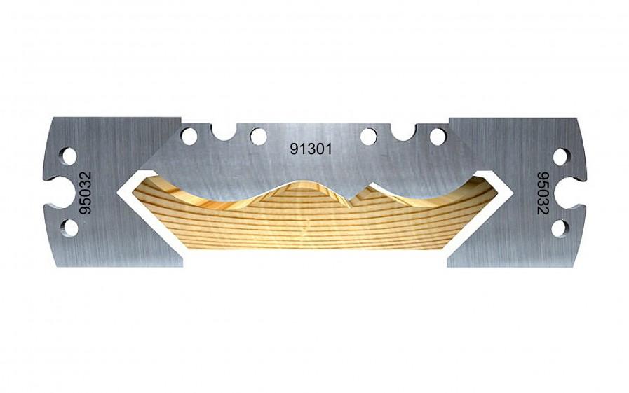 Swan neck soffit moulding, 120 mm