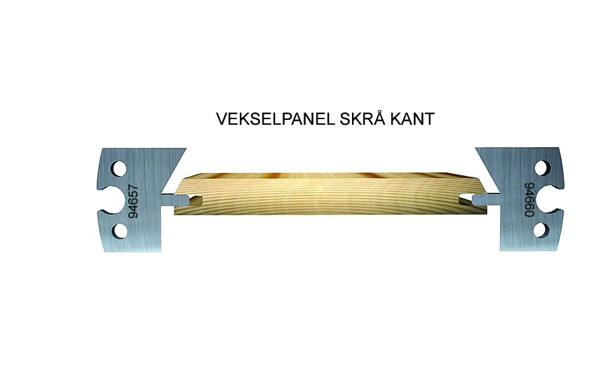 Joining panel, chamfered edge